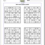 Printable Sudoku Puzzles | Room Surf   Free Printable Sudoku Puzzles