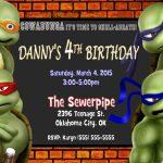 Printable Teenage Mutant Ninja Turtles Birthday Invitations   Free Printable Tmnt Birthday Invitation Template
