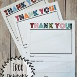 Printable Thank You Note   Three Little Ferns   Family Lifestyle Blog   Military Thank You Cards Free Printable