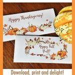 Printable Thanksgiving Cards   Fit In Business Envelopes   Free Printable Thanksgiving Cards