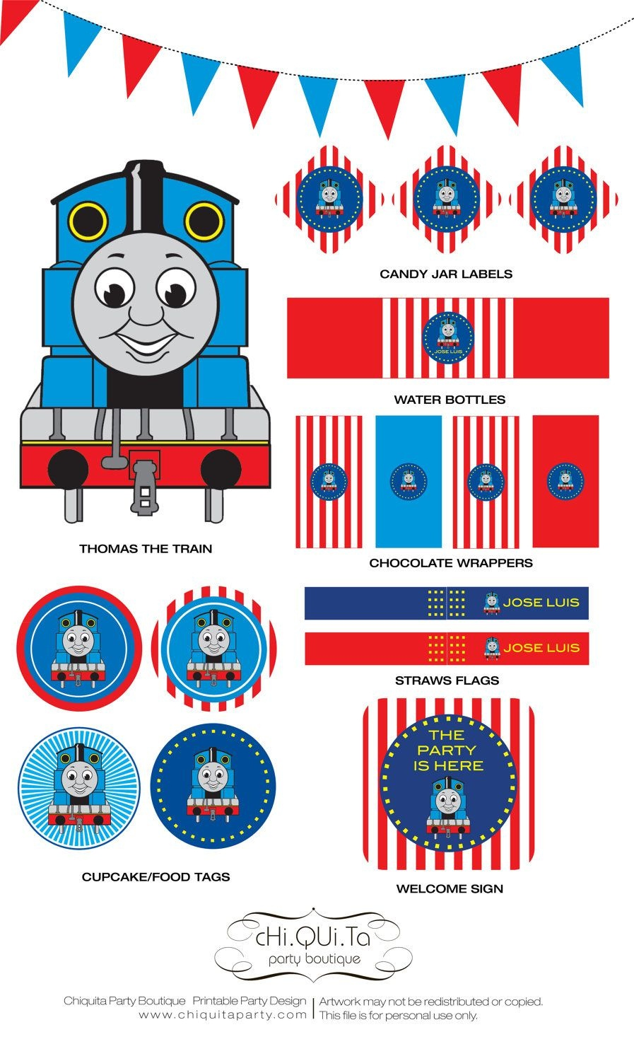Printable Thoma's The Train Birthday Party Pdfchiquitapb - Free Printable Thomas The Train Cupcake Toppers