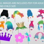 Printable Trolls Photo Booth Props Instant Download Trolls | Etsy   Free Trolls Photo Booth Props Printable