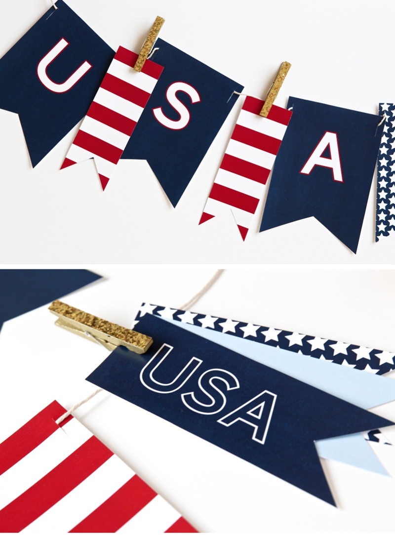 Printable Usa Banner For July 4Th - Free Pdf Download - Paging Supermom - Free Printable Patriotic Banner