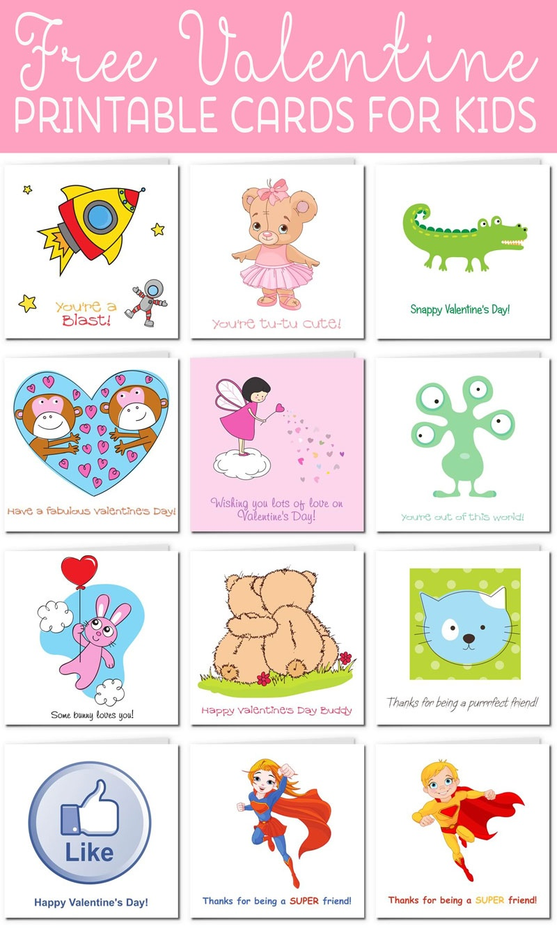 Printable Valentine Cards For Kids - Free Printable Valentine Cards