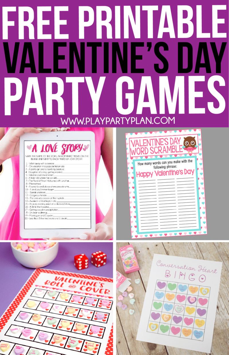 Printable Valentine's Day Games For Kids And Adults | Valentines - Free Printable Valentine Word Games