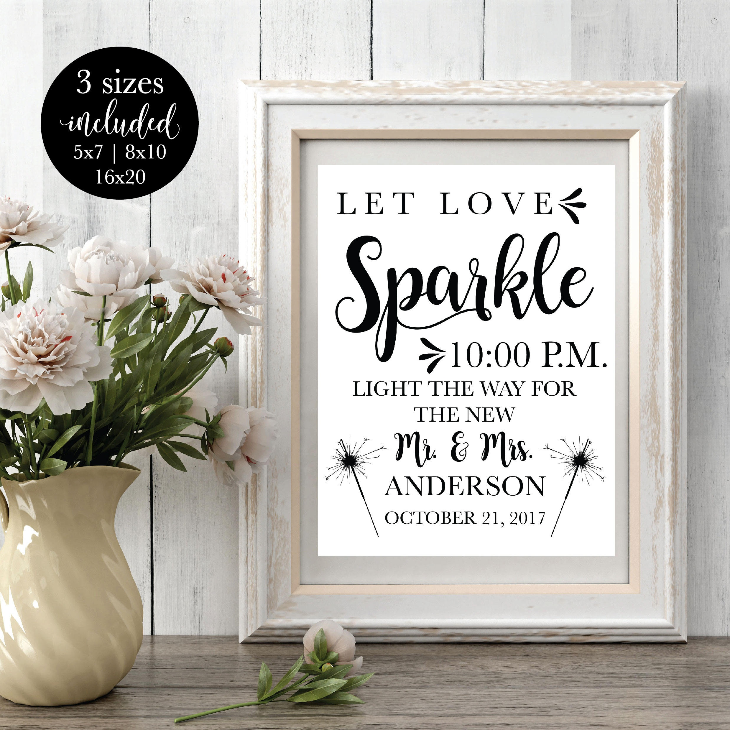 Printable Wedding Sparkler Sign Editable Reception Let Love | Etsy - Free Printable Wedding Sparkler Sign