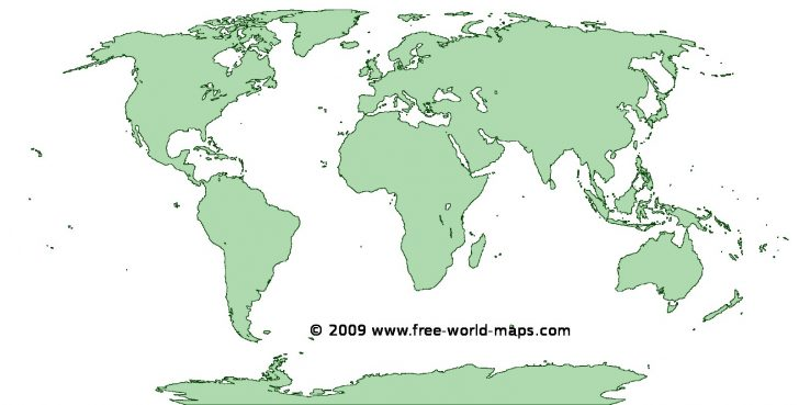 Free Printable World Map Images