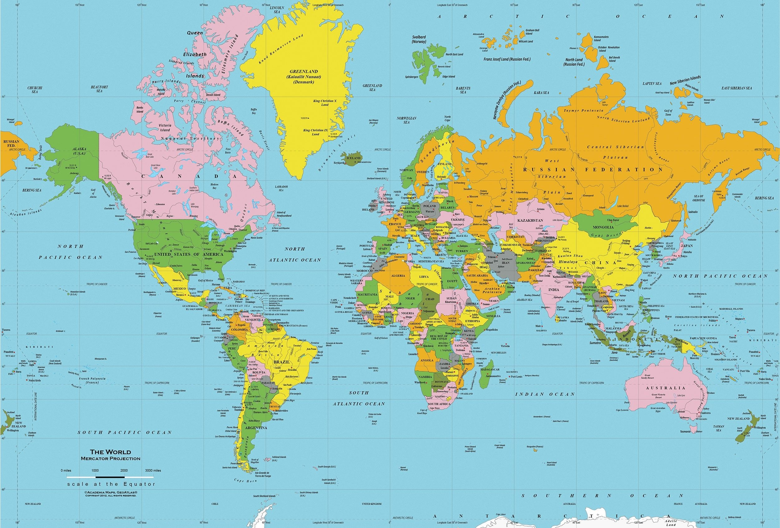 Printable World Map Free | Sitedesignco - Free Printable World Map Images