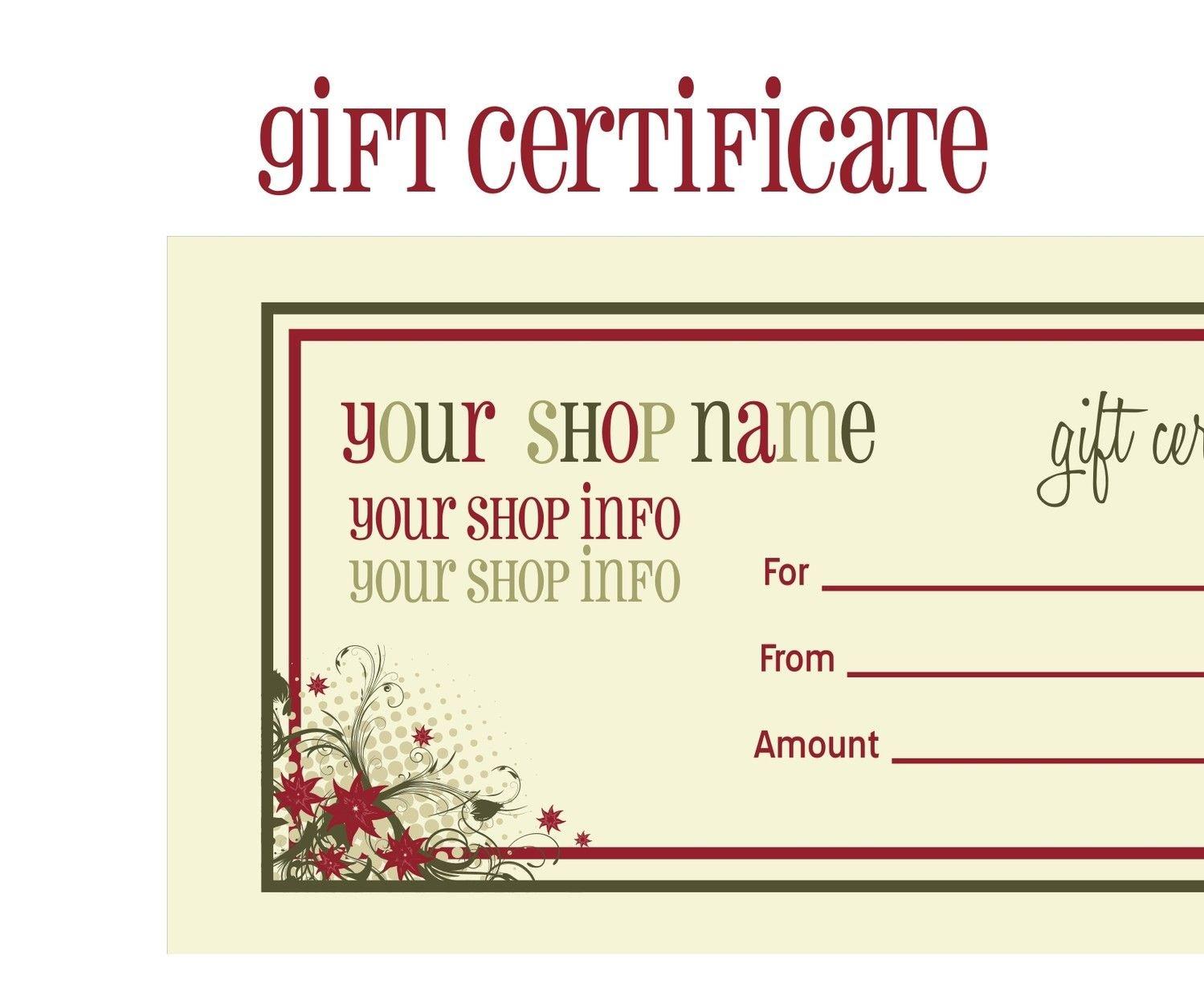 Printable+Christmas+Gift+Certificate+Template | Massage Certificate - Free Printable Gift Certificate Christmas