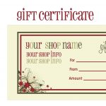 Printable+Christmas+Gift+Certificate+Template | Massage Certificate   Free Printable Gift Certificate Templates For Massage