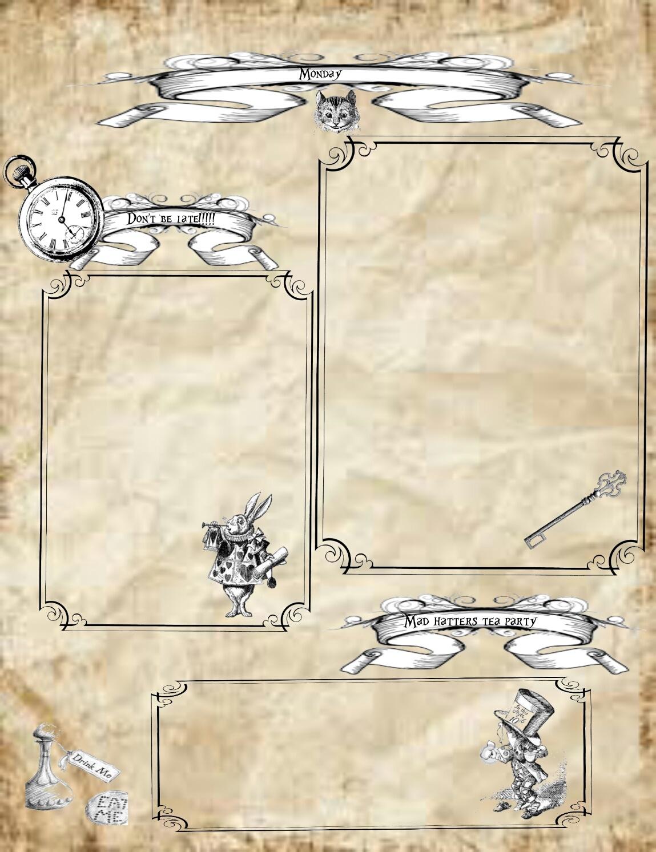 Printables – Lorraine A Life Less Ordinary - Free Vintage Alice In Wonderland Printables