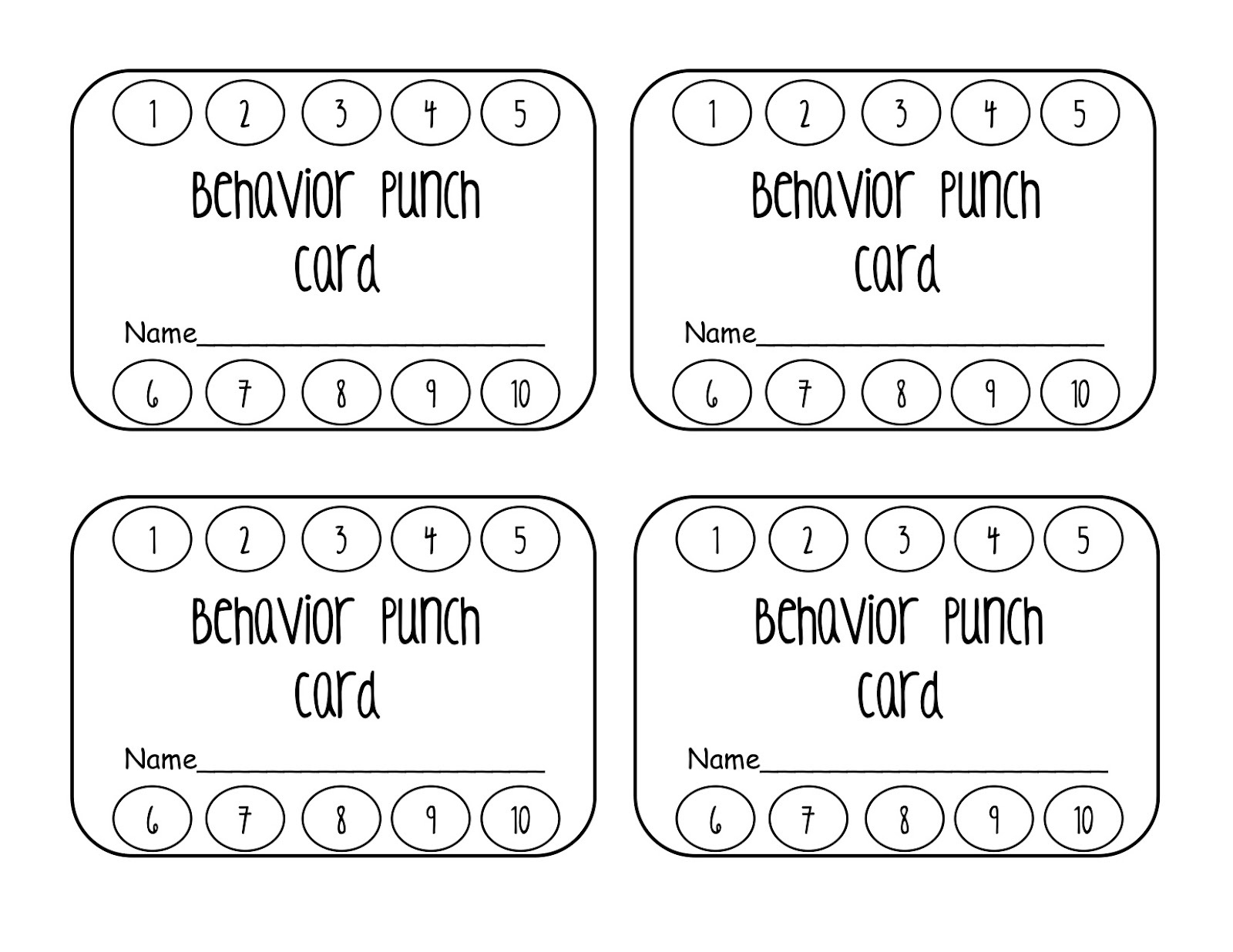 Punch Cards Template - Kaza.psstech.co - Free Printable Loyalty Card Template