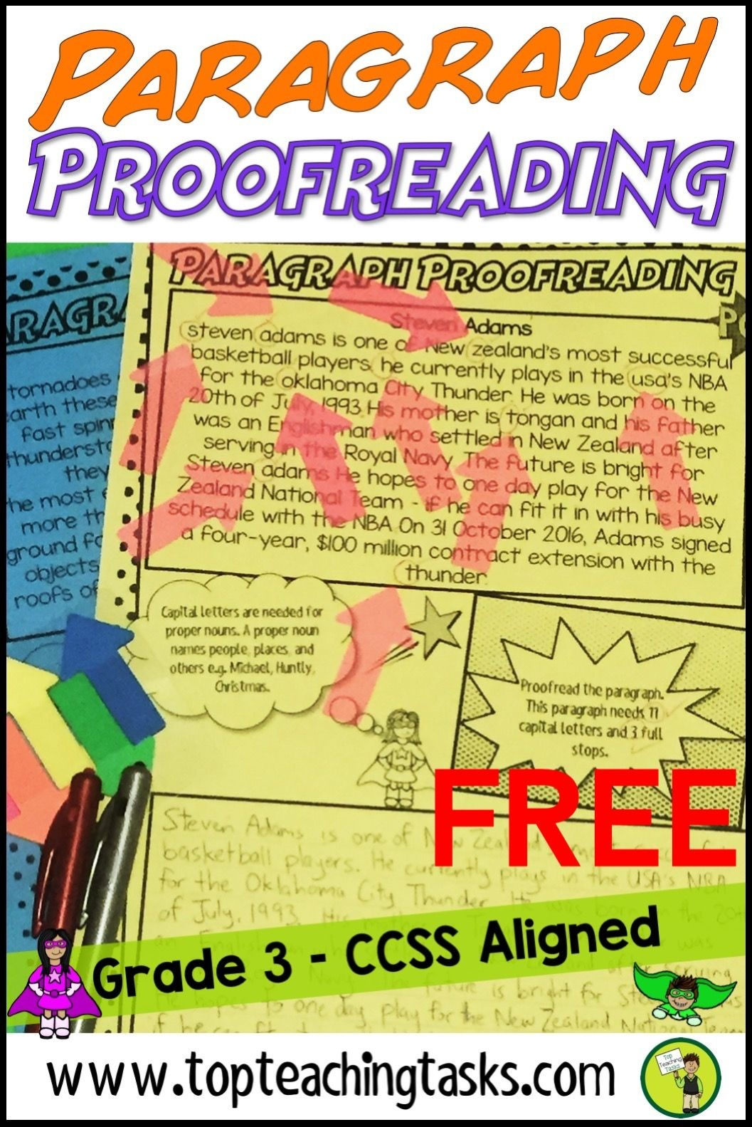 Punctuation Proofreading Practice Activity Worksheets Free | Top - Punctuation Posters Printable Free