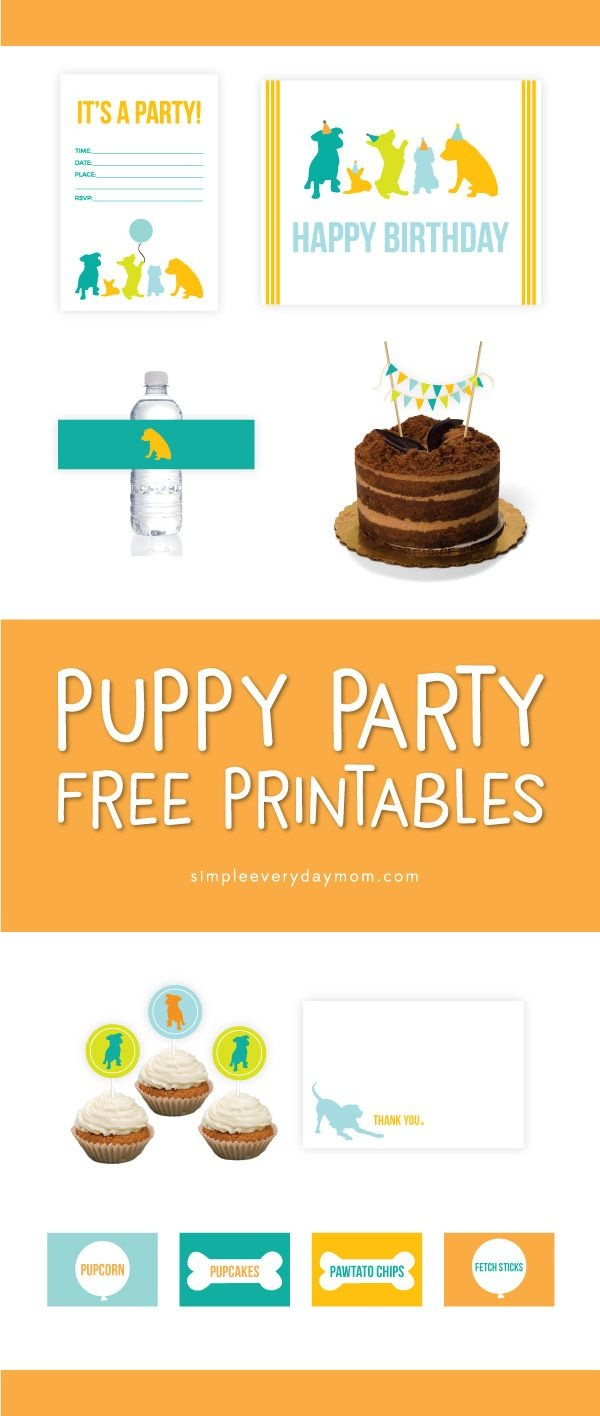 Puppy Party Theme Free Printable Pack | *all Free Printables From - Free Printable Puppy Dog Birthday Invitations