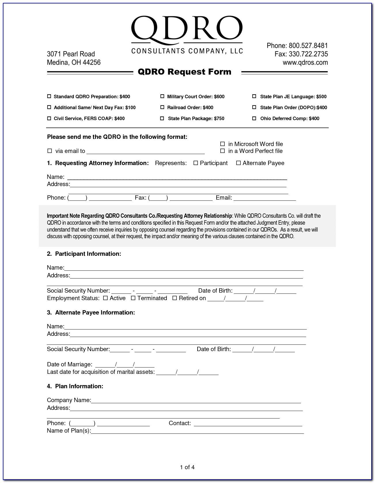 Qdro Form Free - Form : Resume Examples #kwle7Ezm9N - Free Printable Qdro Forms