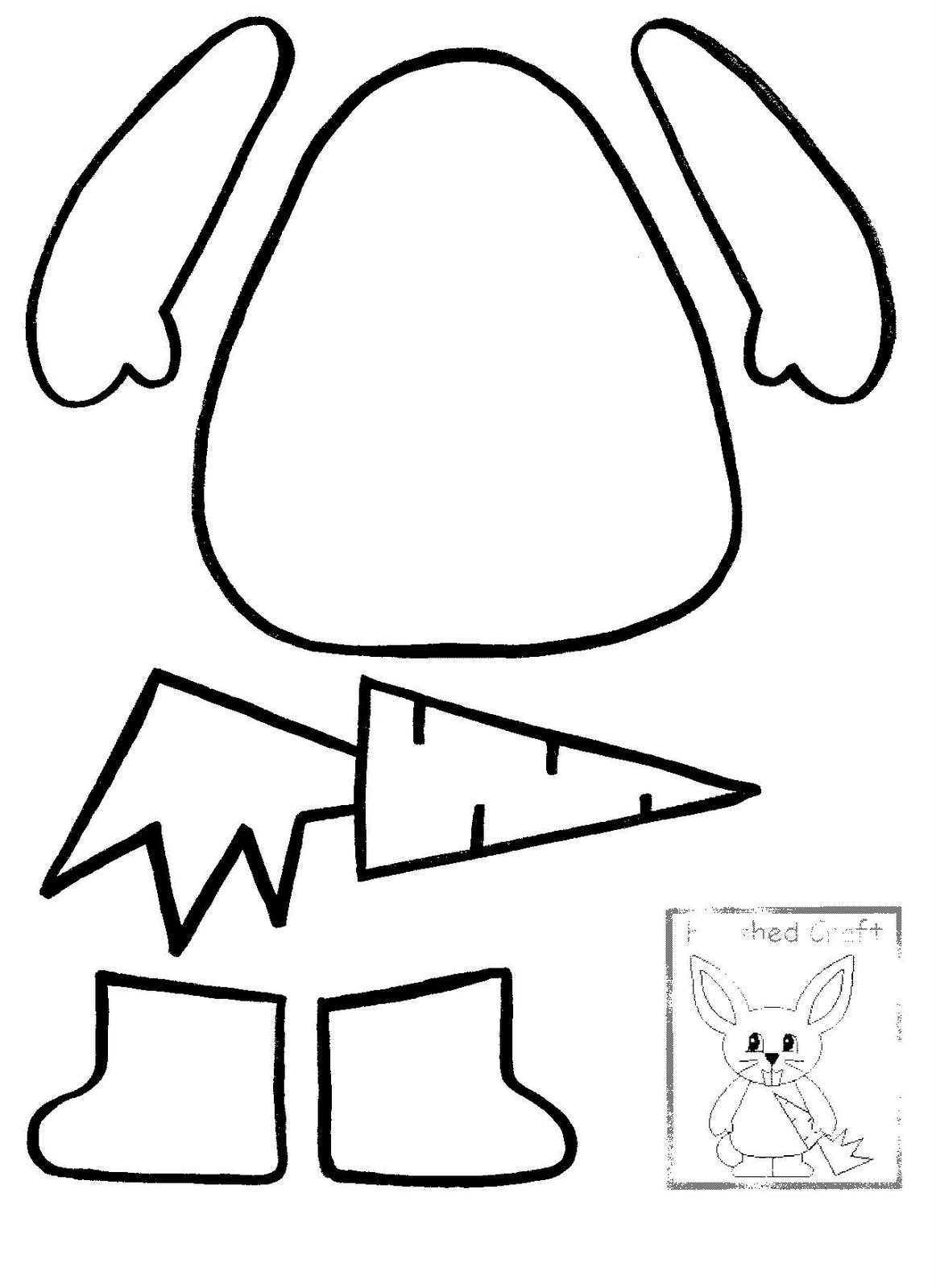 Rabbit Outline | Free Download Best Rabbit Outline On Clipartmag - Free Printable Rabbit Template