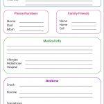 Random Bits: Babysitter Info Sheet {Organization} | Weekend Wonders   Free Printable Daycare Flyers