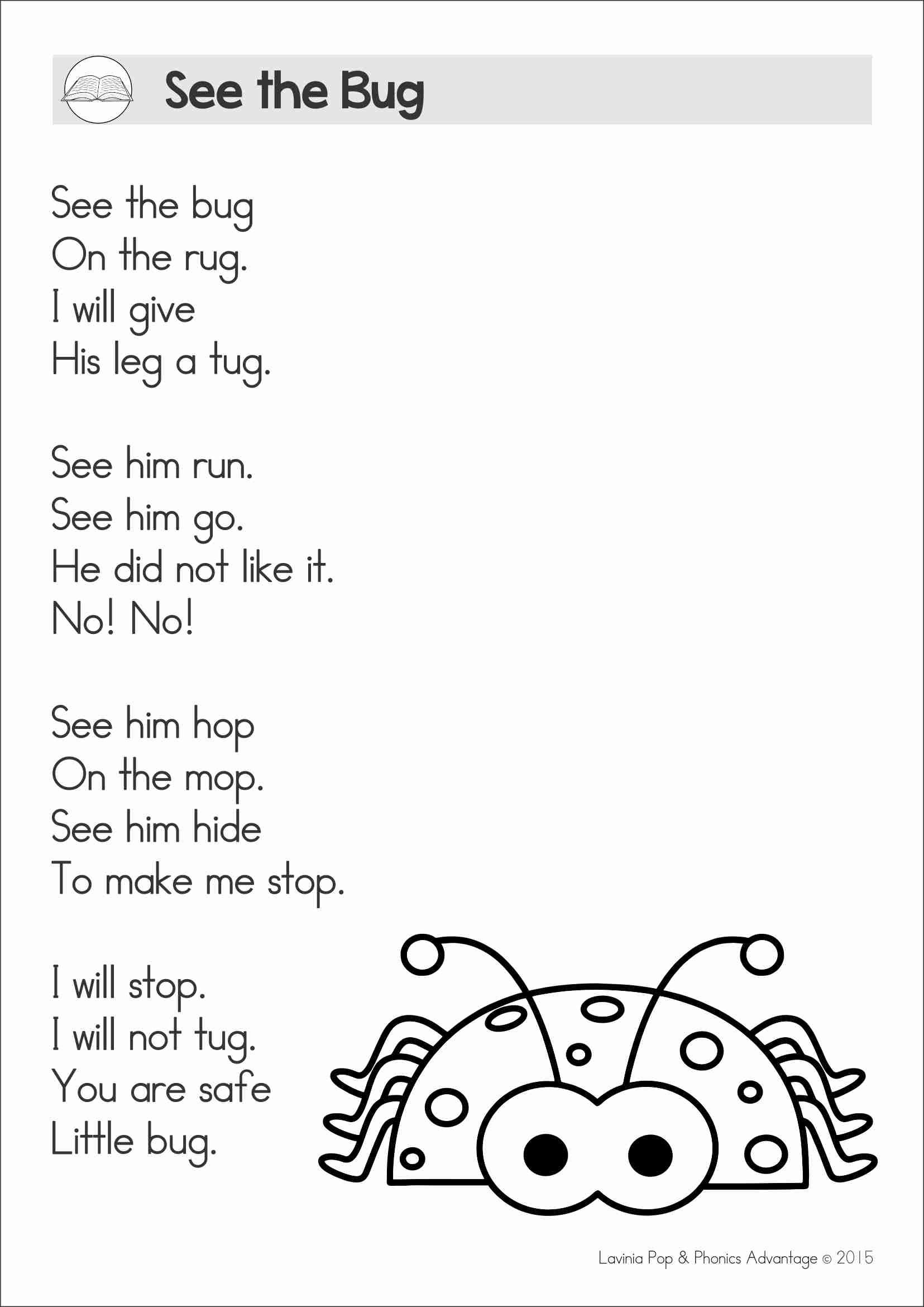 Reading Comprehension & Fluency - Phonics Poems | Poems | Reading - Free Printable Word Family Poems