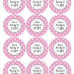 Ready To Pop Printable Labels Free | Baby Shower Ideas | Baby Shower   Free Pink Elephant Baby Shower Printables