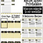 Recipe Binder Organization With Free Printables   Sparkles Of Sunshine   Free Printable Tabs For Binders