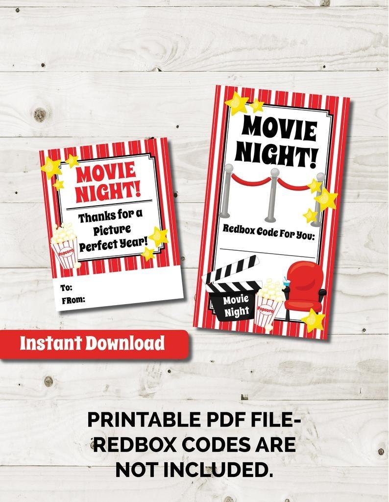 Redbox Gift Card Redbox Code Redbox Tag Movie Gift Tag Movie | Etsy - Free Printable Redbox Gift Tags