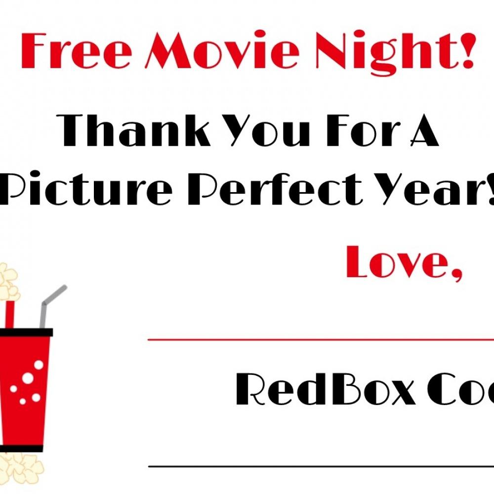 Redbox Printable Gift Tag, Redbox Printable Tag, Redbox Teacher Gift - Free Printable Redbox Gift Tags