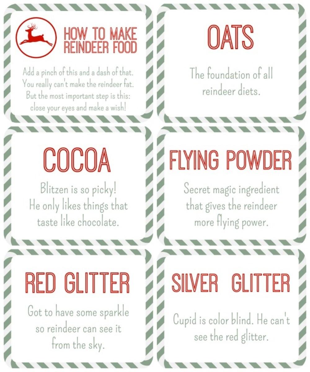 Reindeer Food Free Printables - Momtrends - Free Printable Reindeer Dust Poem