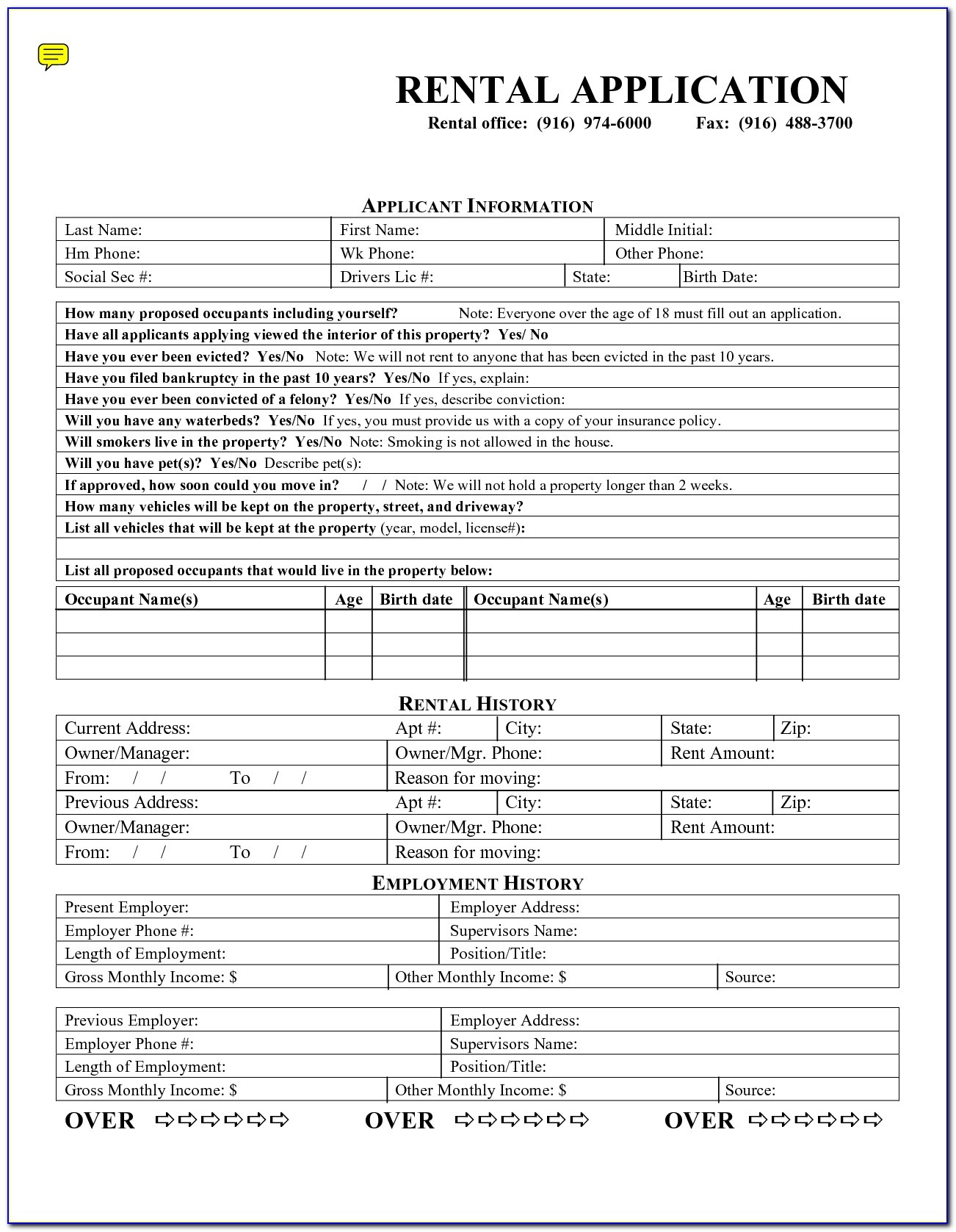 Rental Application Forms Free Printable - Form : Resume Examples - Free Printable Rental Application Form