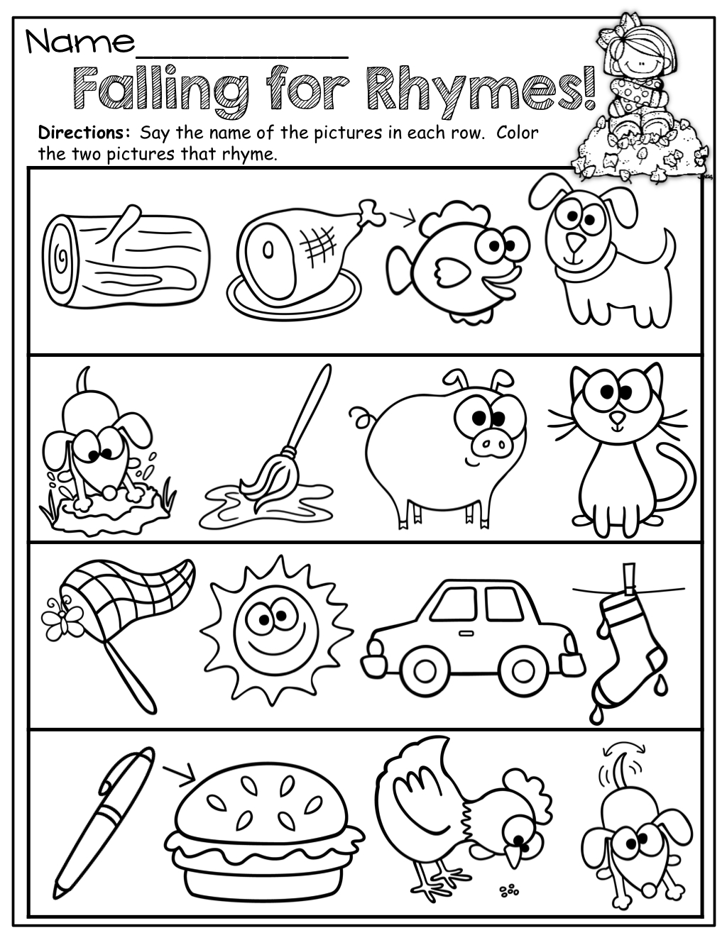 Repinnedmyslpmaterials Visit Our Page For Free Speech - Free Printable Rhyming Words