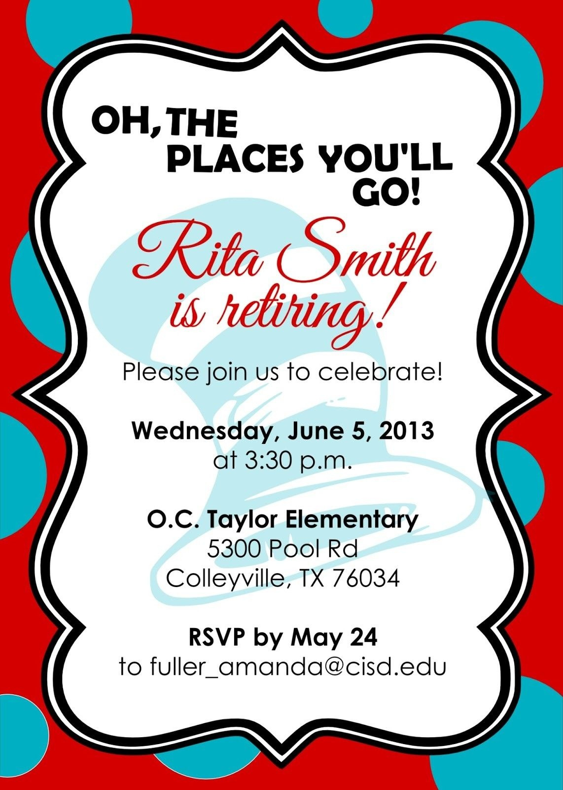 Retirement Party Invitations Free Templates | Fun Stuff | Retirement - Free Printable Retirement Cards