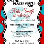 Retirement Party Invitations Free Templates | Fun Stuff | Retirement   Free Printable Retirement Party Flyers