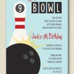 Retro Inspired | Let's Bowl | Bowling Birthday | Custom Party Invite   Free Printable Bowling Birthday Party Invitations