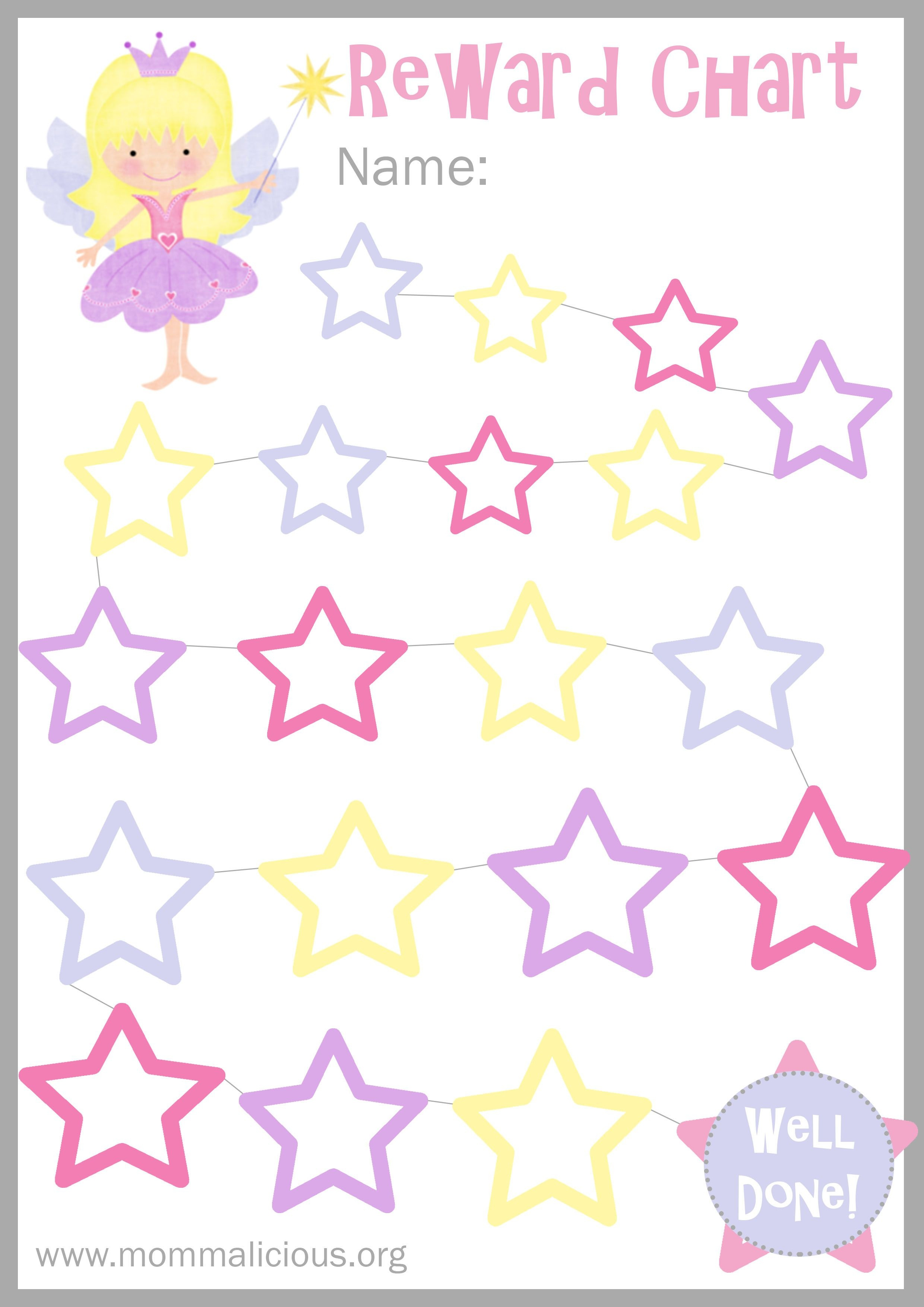 Reward Charts For Girls - Kaza.psstech.co - Free Printable Reward Charts