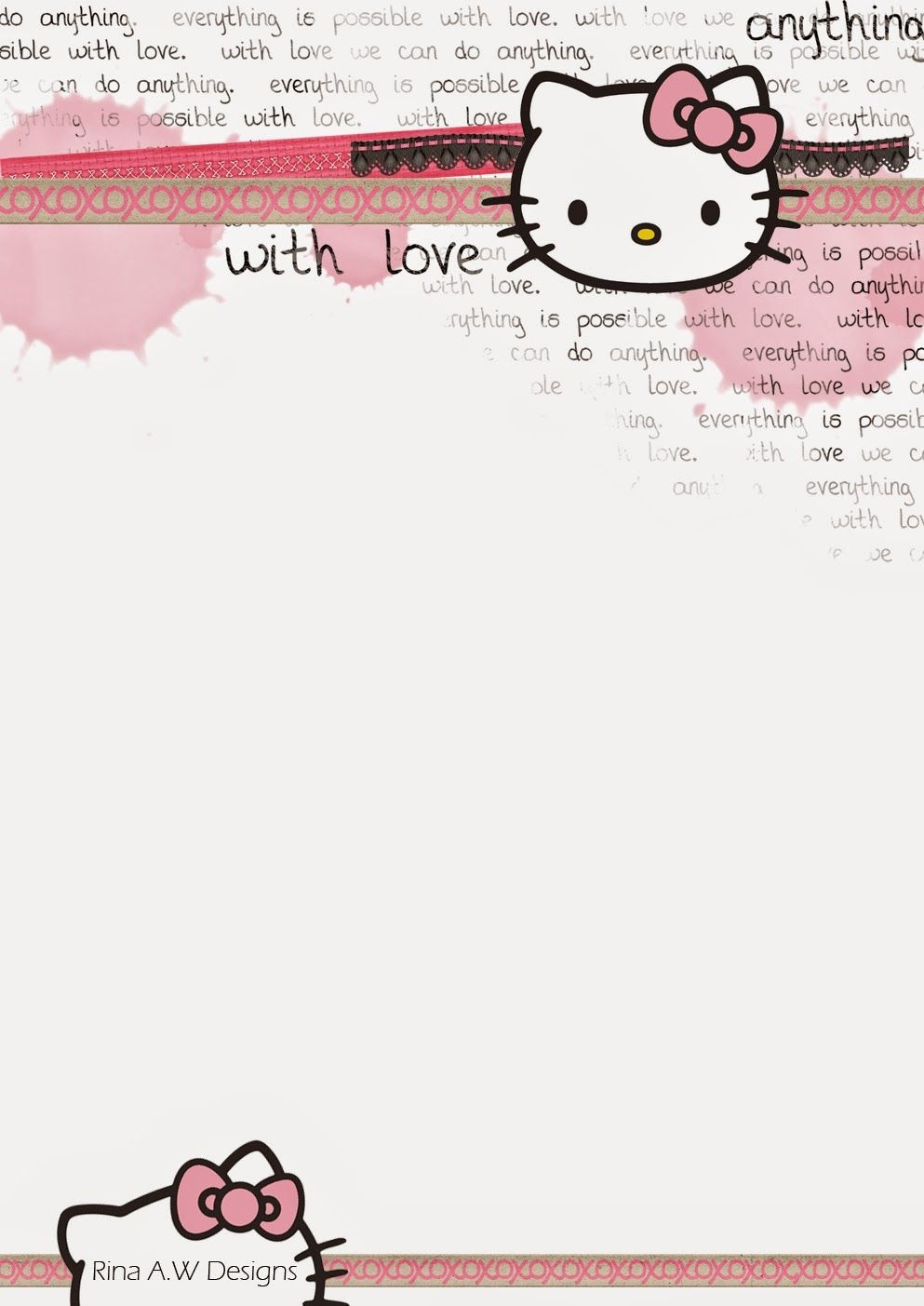 Rina Loves: Hello Kitty Free Printables   Crafty Things   Sobres De - Free Printable Hello Kitty Stationery
