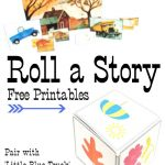 Roll A Story Fun With Little Blue Truck | Free Printables For Fun   Little Blue Truck Free Printables