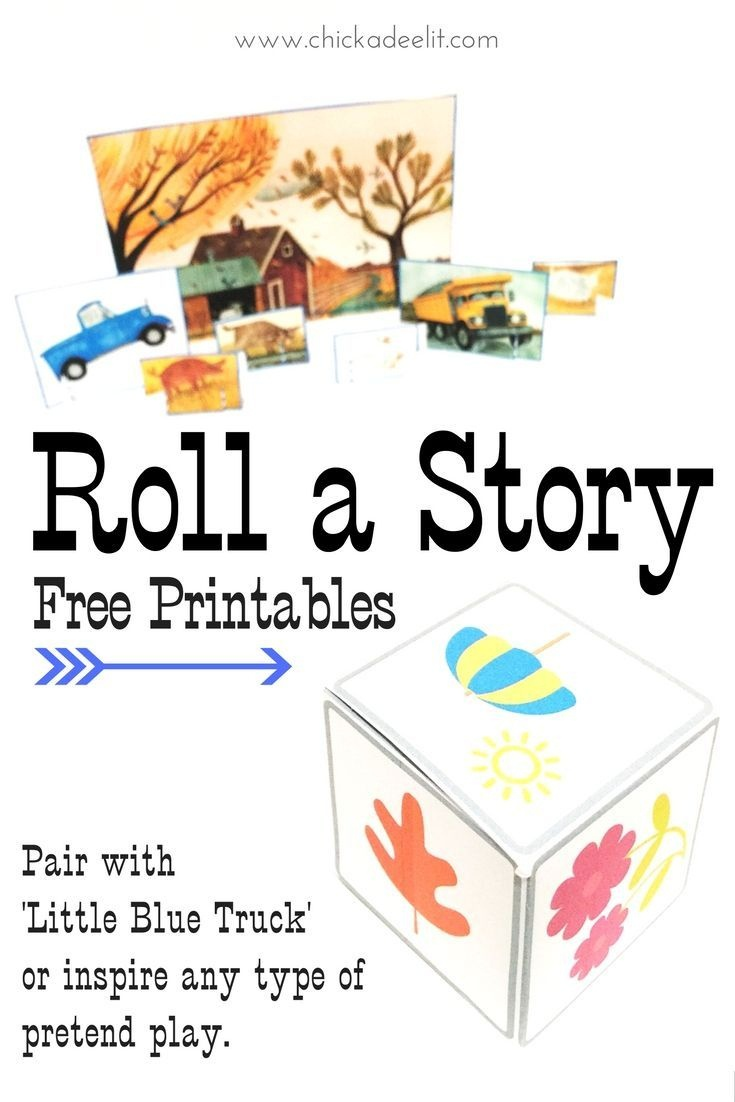 Roll-A-Story Fun With Little Blue Truck | Free Printables For Fun - Little Blue Truck Free Printables