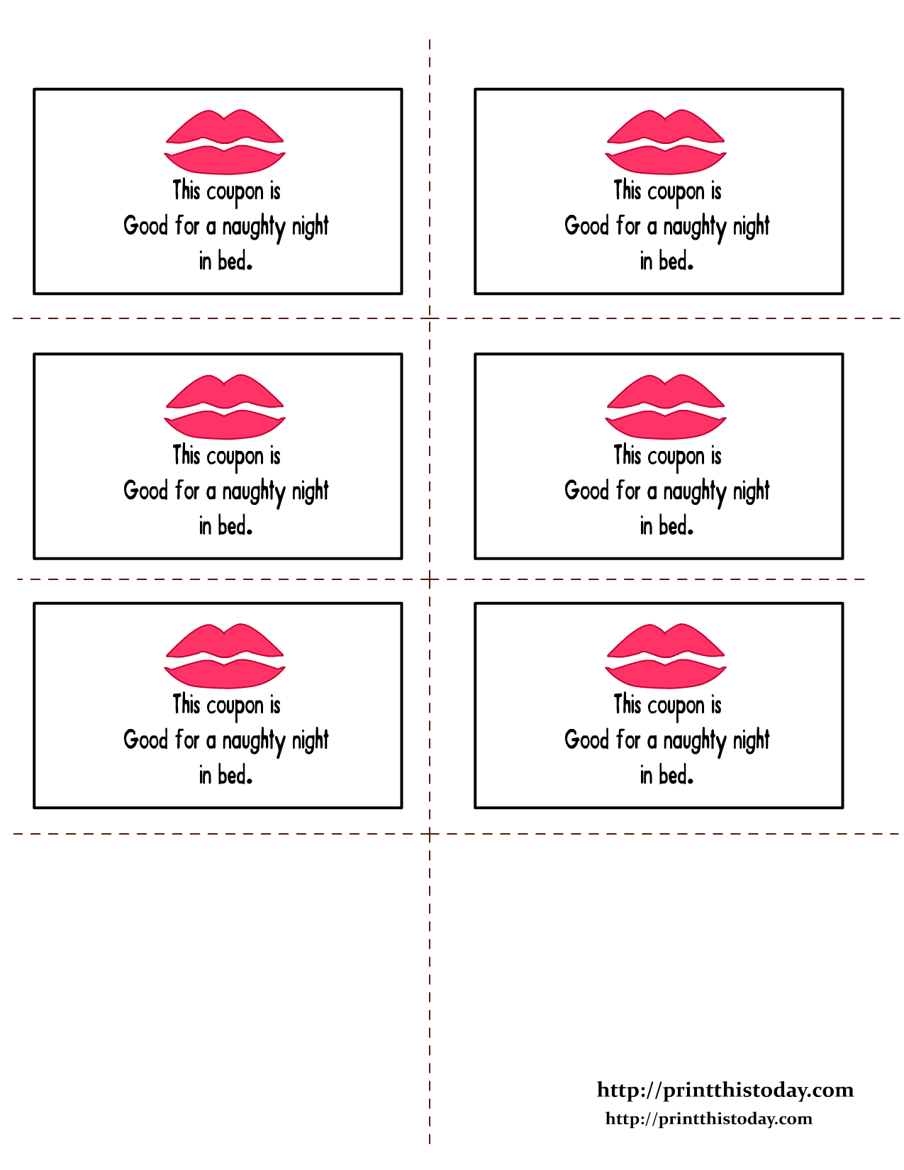 Romantic Love Coupon Printable | Romantic Love Coupons | Print This - Free Printable Kinky Coupons For Him