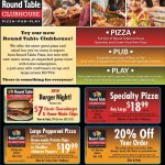 Round Table Pizza   Auburn | Auburn, Ca Coupons | Pizza, Auburn, Table   Free Printable Round Table Pizza Coupons