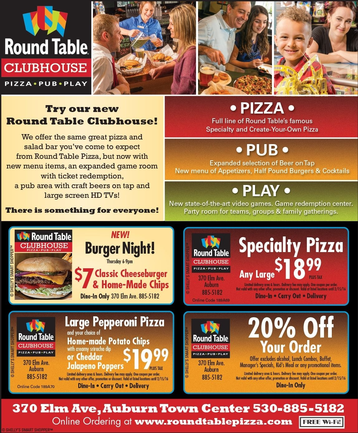 Round Table Pizza - Auburn | Auburn, Ca Coupons | Pizza, Auburn, Table - Free Printable Round Table Pizza Coupons