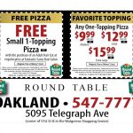 Round Table Pizza Codes | Deoverslag   Free Printable Round Table Pizza Coupons