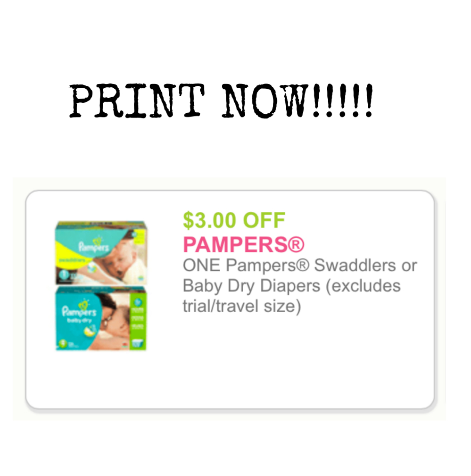Run! High Value $3 Off Pampers Swaddlers Or Baby Dry Coupon! - Free Printable Pampers Swaddlers Coupons
