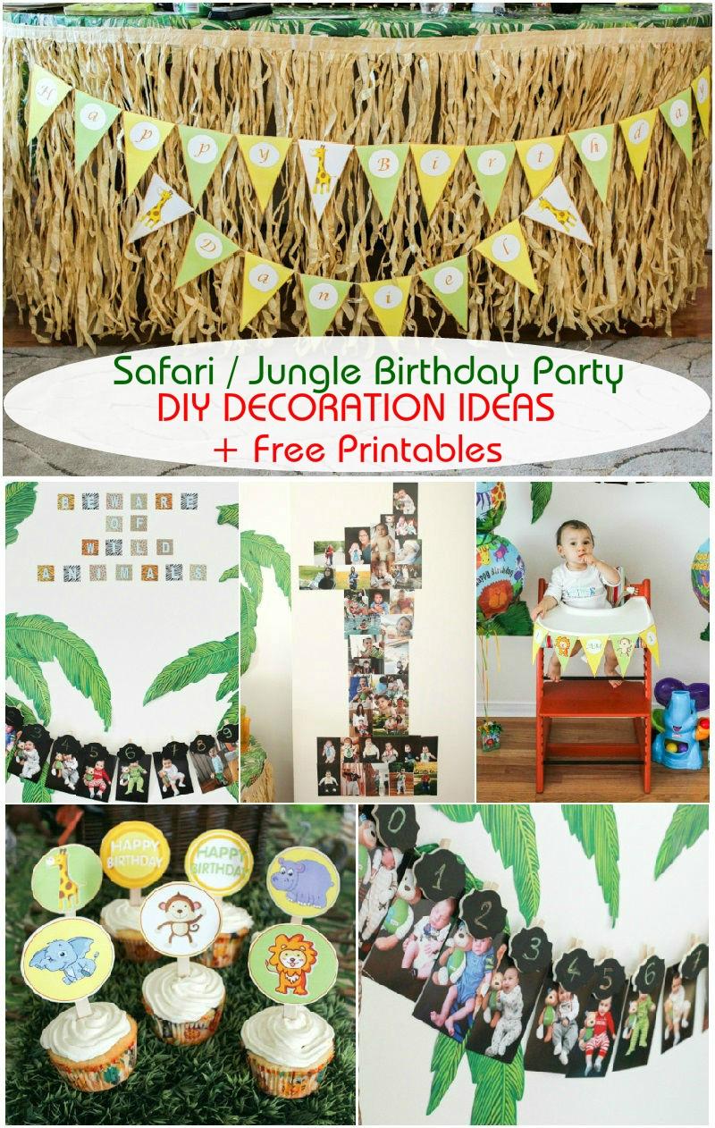 Safari / Jungle Themed First Birthday Party Part Iii – Diy - Free Jungle Printables