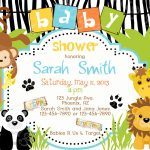 Safari Themed Baby Shower For Limited Budget | Bagvania Invitation   Free Printable Jungle Safari Baby Shower Invitations