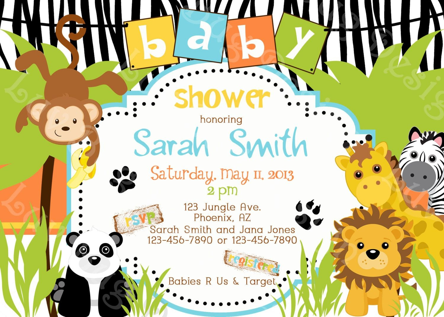 Safari Themed Baby Shower For Limited Budget | Bagvania Invitation - Free Printable Jungle Safari Baby Shower Invitations