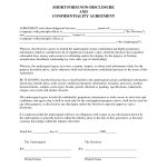Sample Non Disclosure Agreement | Confidentiality Agreement Sample   Free Printable Non Disclosure Agreement Form