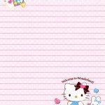 Sanrio   Hello Kitty   Memo Paper | Tags | Hello Kitty, Sanrio Hello   Free Printable Hello Kitty Stationery