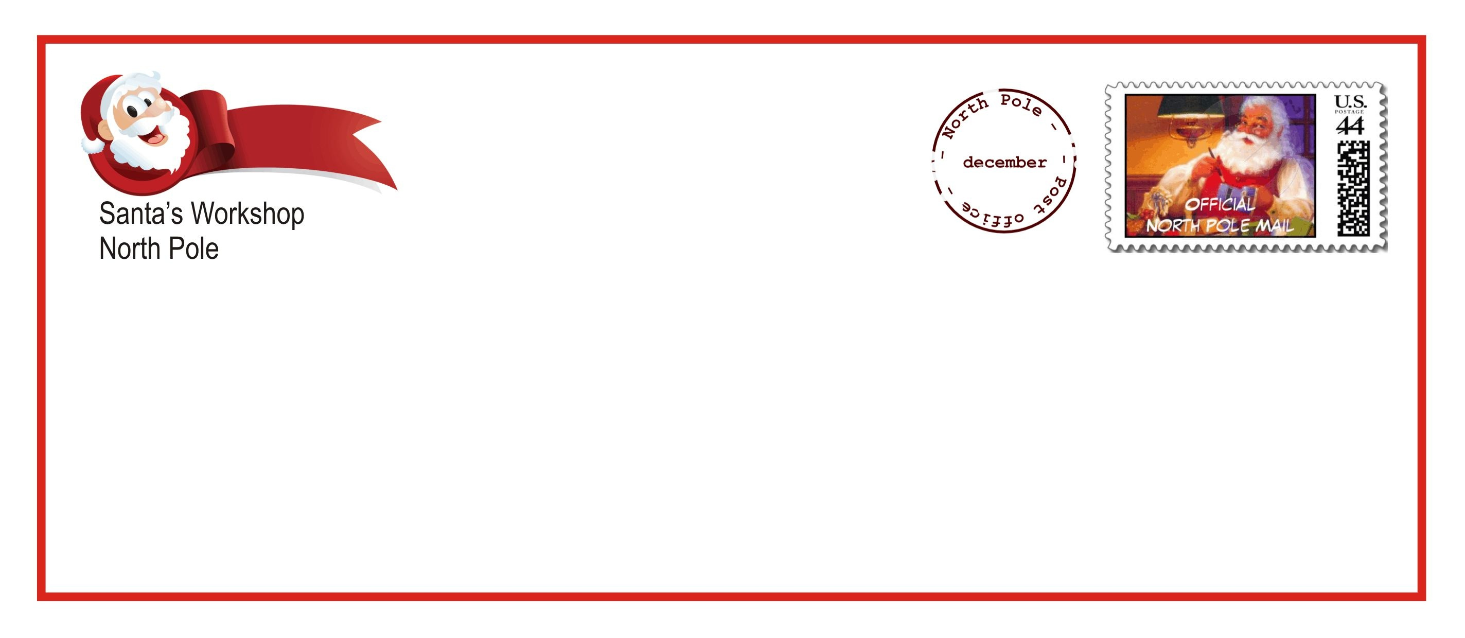 Santa Envelopes - Kaza.psstech.co - North Pole Stationary Printable Free