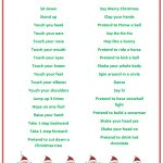 Santa Says Game For Christmas Parties {Free Printable} | Kid Blogger   Holiday Office Party Games Free Printable