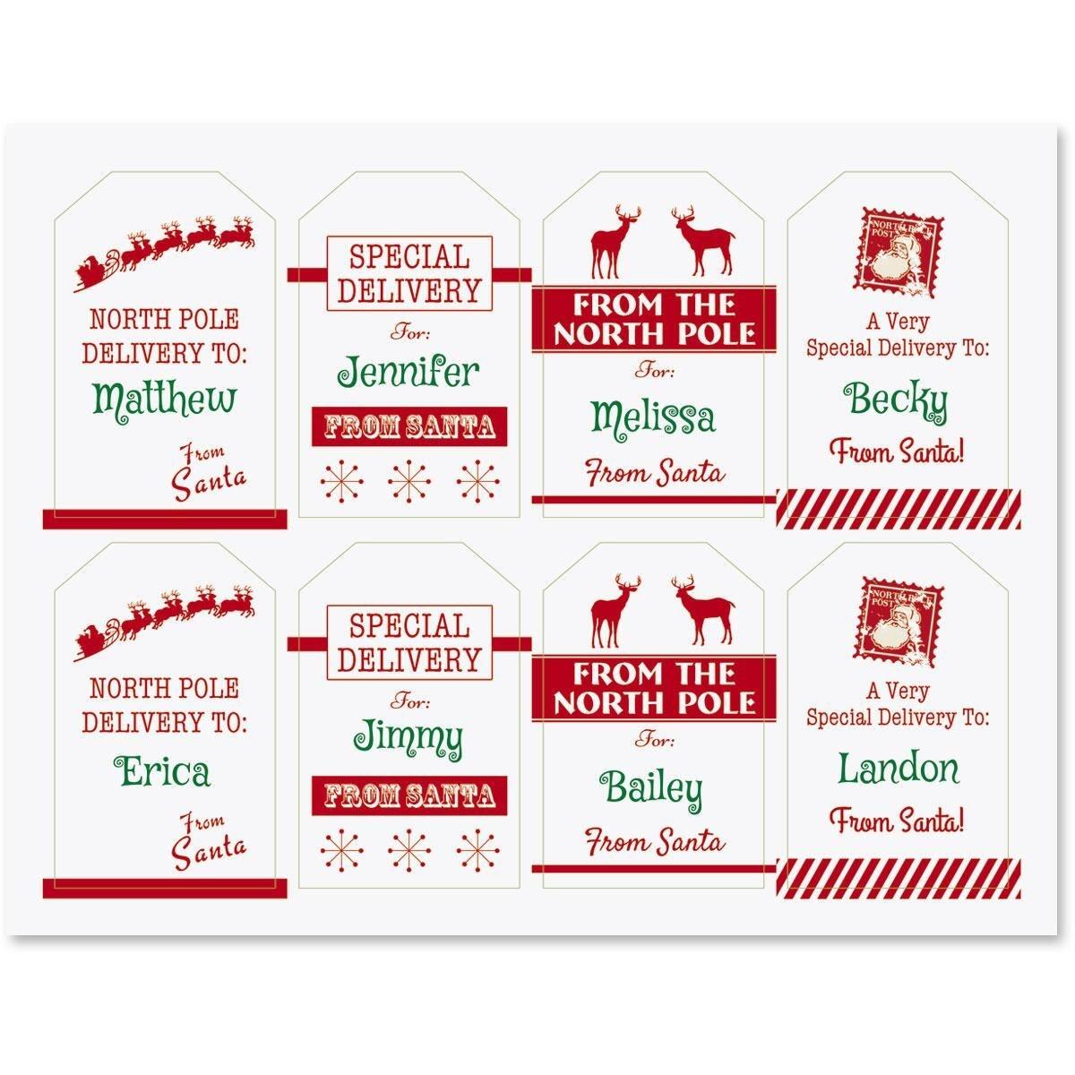 Santa Tags - Kaza.psstech.co - Free Printable Santa Gift Tags