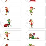 Santa's Little Gift To You! Free Printable Gift Tags And Labels   Christmas Name Tags Free Printable